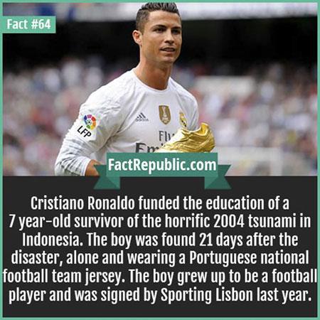คริสเตียโน่ โรนัลโด้ได้ให้ทุนการศึกษาแก่เด็ก