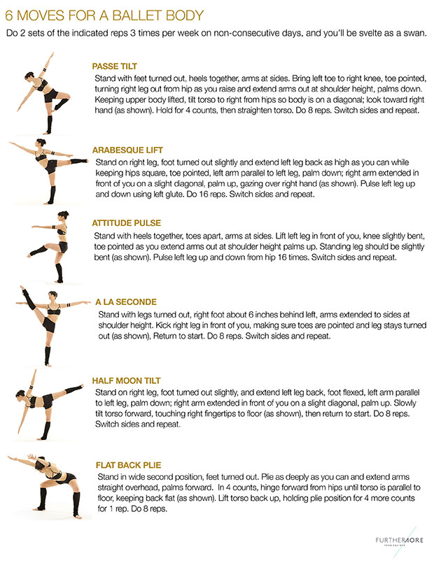 ท่าฝึกเองได้เพื่อรูปร่างสวยสง่างามแบบนักเต้นบัลเล่ต์