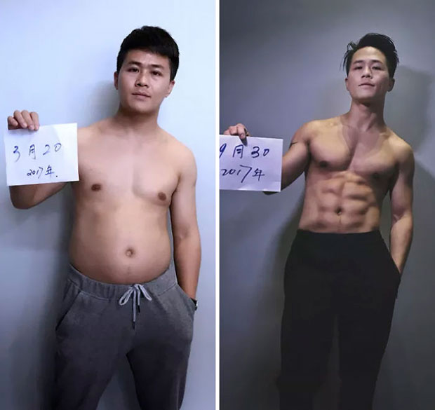 ออกกำลังกายนาน 6 เดือนจนผอม