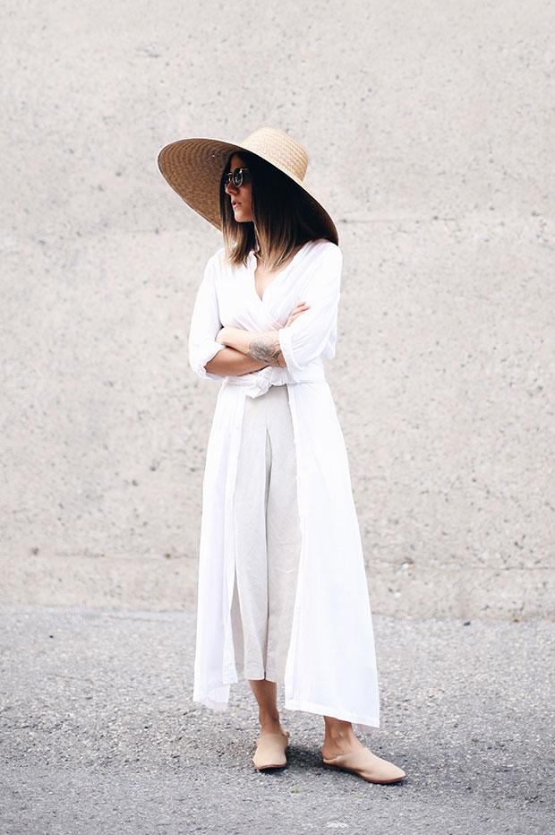 เสื้อ Rodebjer, กางเกง Oak+Fort, รองเท้า Zara, หมวก The Dreslyn