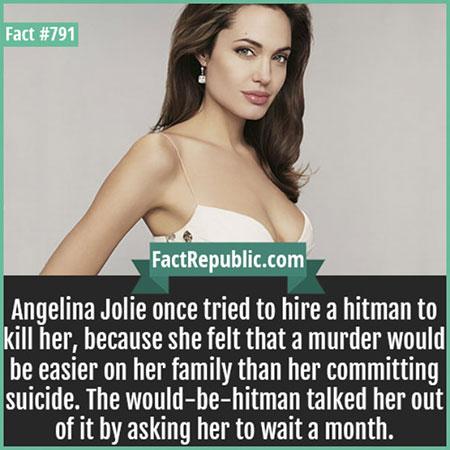 แองเจลีน่า โจลีเคยจ้างมือปืนมาสังหารตัวเอง