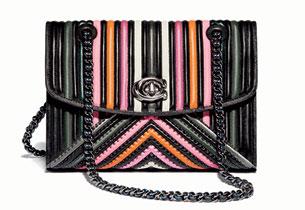 Colorblock Quilting with Rivets Parker Shoulder Bag