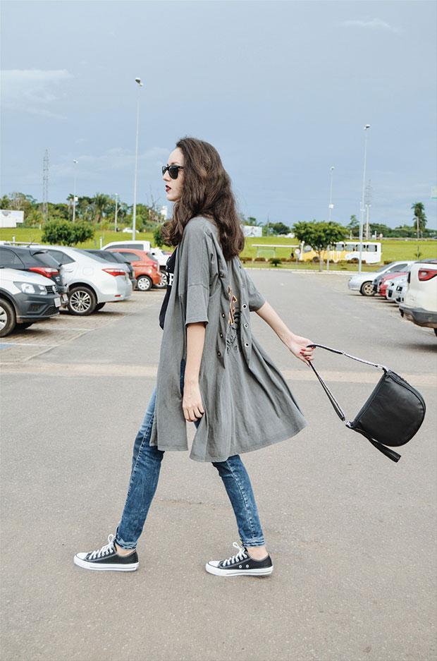 Damyller Kimono, Damyller Blouse, Damyller Pants, Converse Shoes, Damyller Bag