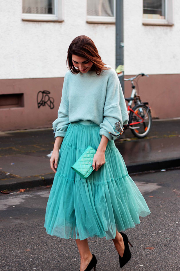 H&M Sweater, Asos Skirt, Asos Heels, Chanel Bag