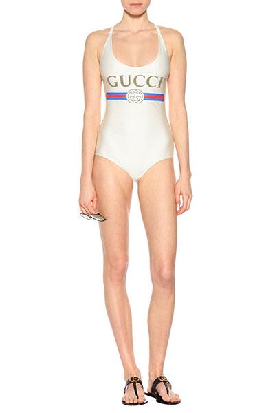 ชุดว่ายน้ำพิมพ์ลาย Gucci