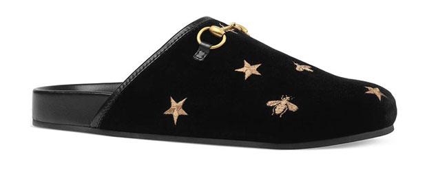 รองเท้าหนังนิ่มปักลายรุ่น New River ของ Gucci