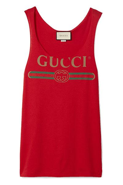 เสื้อกล้ามผ้ายืดพิมพ์ลาย Gucci