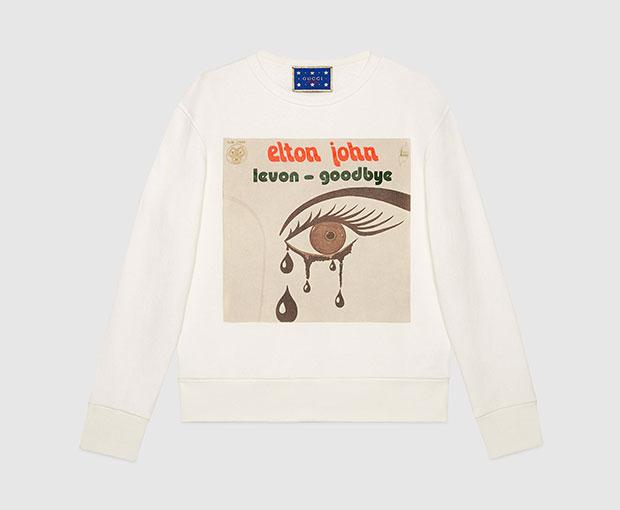 เสื้อสเว็ตเตอร์ Elton John ของ Gucci