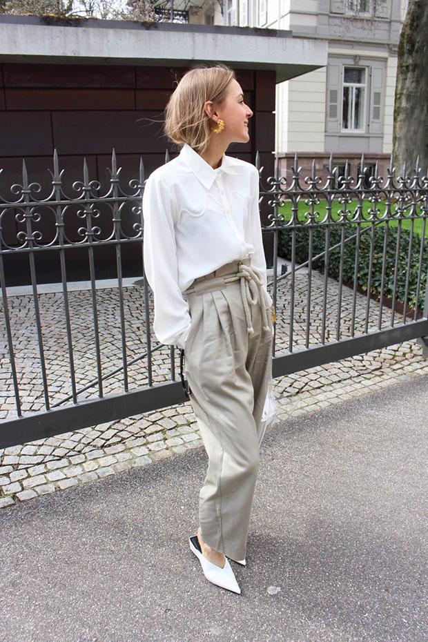 เสื้อ Zara, กางเกง H&M, รองเท้า Zara, กระเป๋า Mango, แว่นตากันแดด Céline, ต่างหู Mango