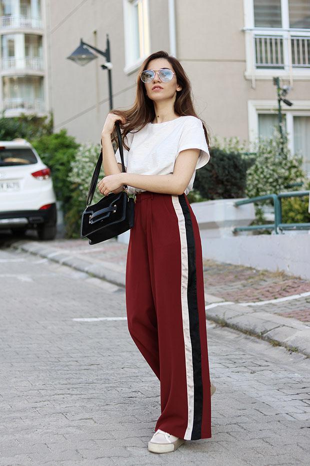 Mango T Shirt, Romwe Trousers, Derimod Sneakers, Zaful Bag, Romwe Glasses 281b0cf56dc3
