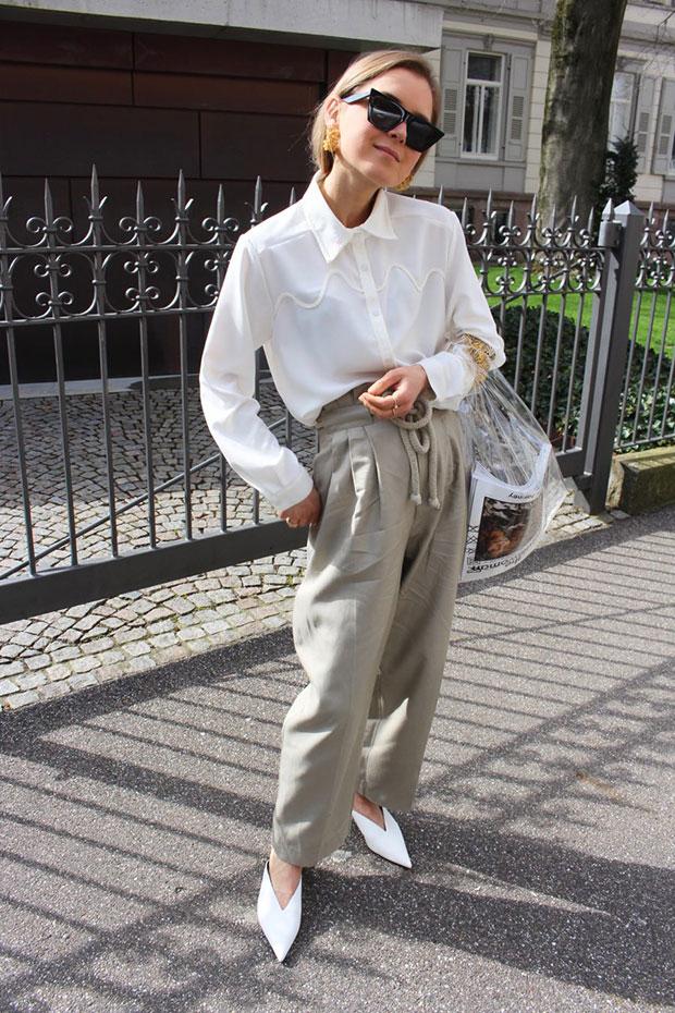Zara Top, H&M Pants, Zara Shoes, Mango Bag, Céline Sunglasses, Mango Earrings