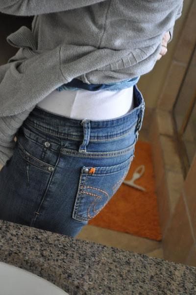 กางเกงยีนส์ใหญ่เกินไป