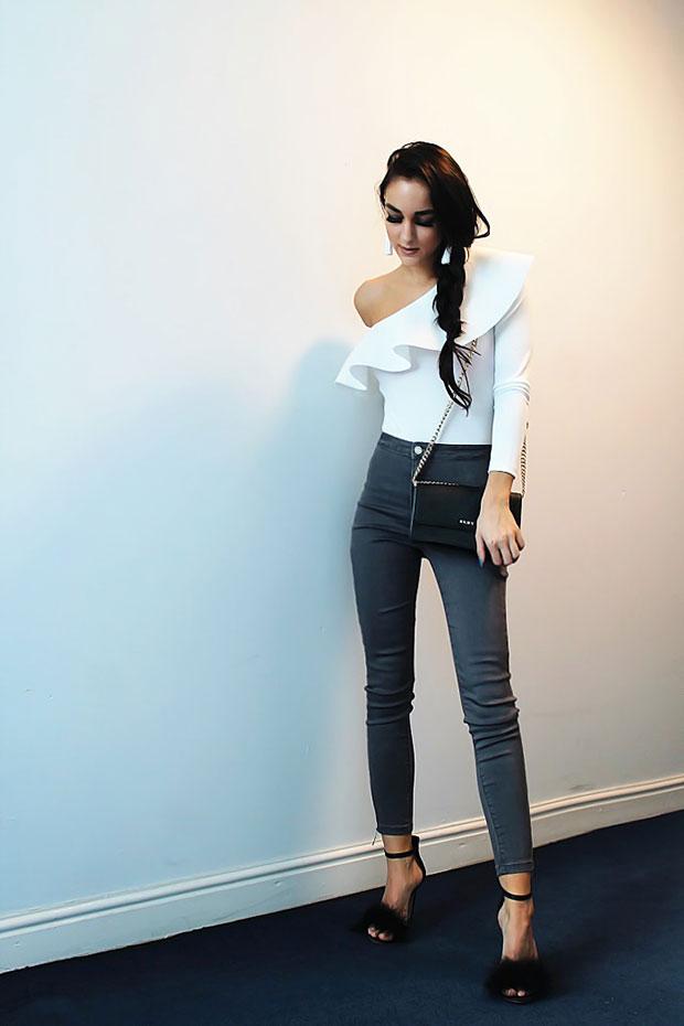 Ebay BodySuit, Missguided Jeans, Primark Heels, DKNY Bag