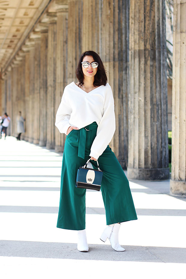 H&M Jumper, Asos Pants, Asos Boots, Peter Kaiser Bag, Quay Sunglasses