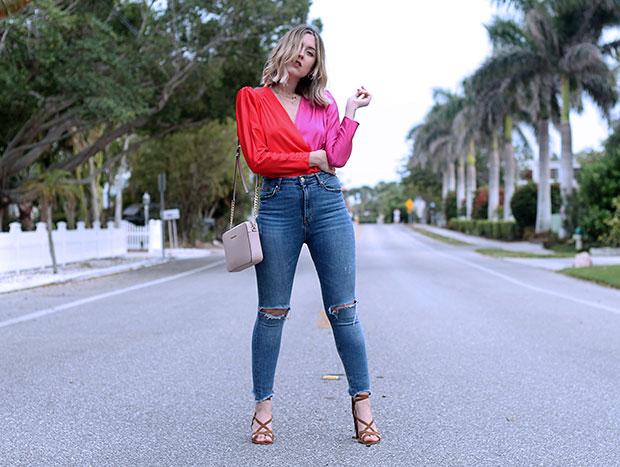 Zara Blouse, Zara Jeans, Marypaz Sandals