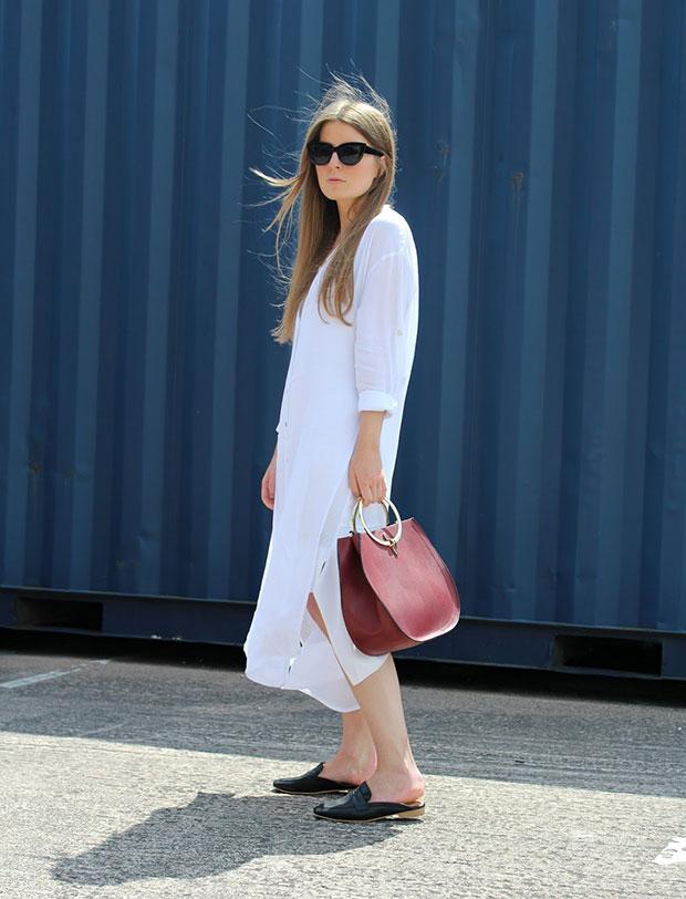 เดรส New Look, รองเท้า New Look, แว่นตากันแดด Asos, กระเป๋า Zara