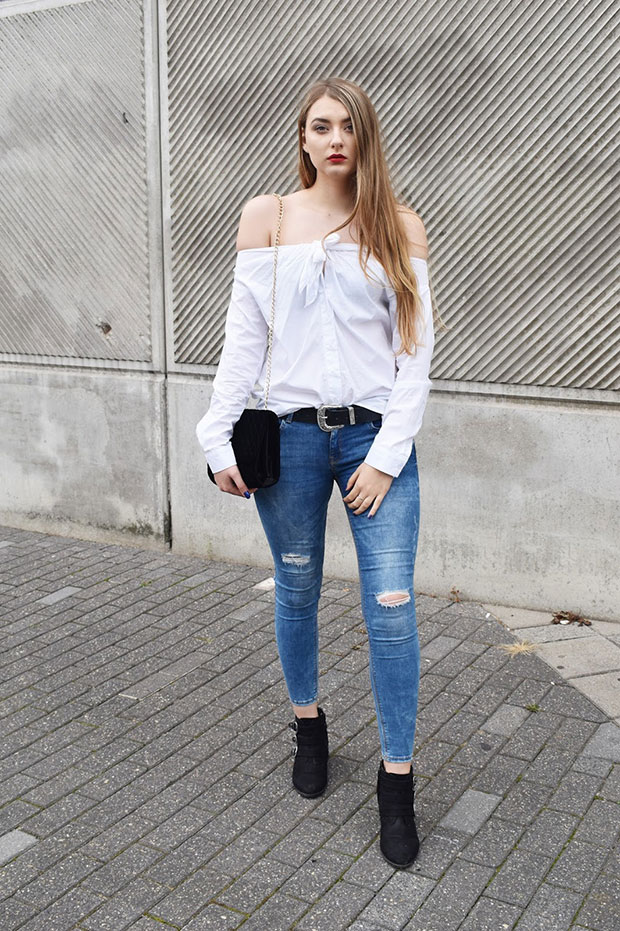 H&M Shirt, Mango Jeans, Dorothy Perkins Shoes, Mohito Bag, Avon Watch