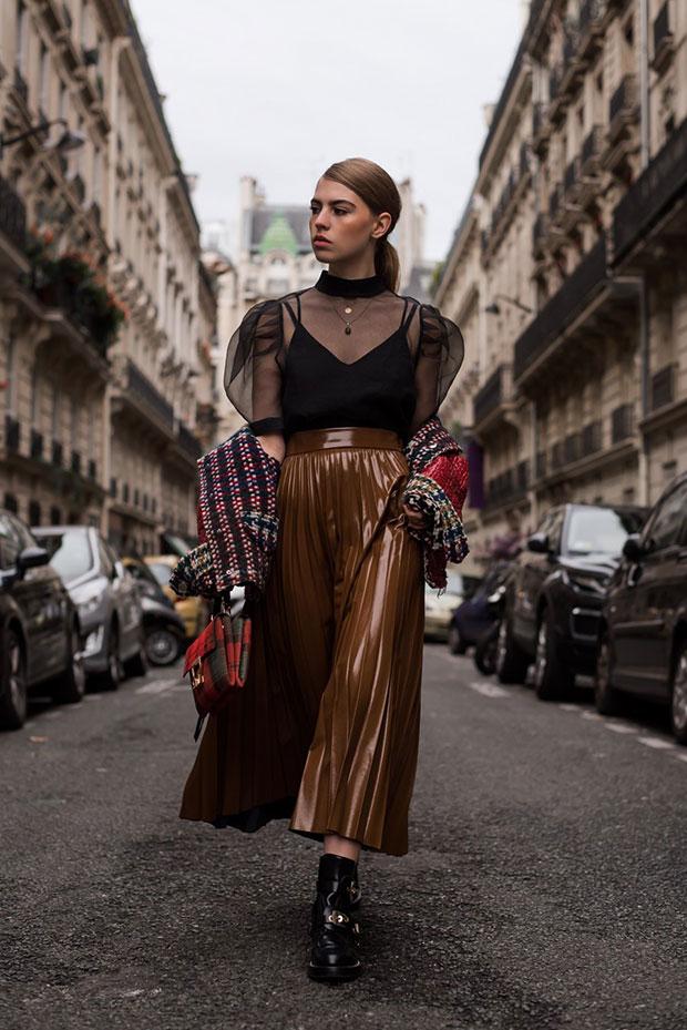 Isabel Marant Jacket, H&M Shirt, H&M Skirt, Balenciaga Boots, Coccinelle Bag