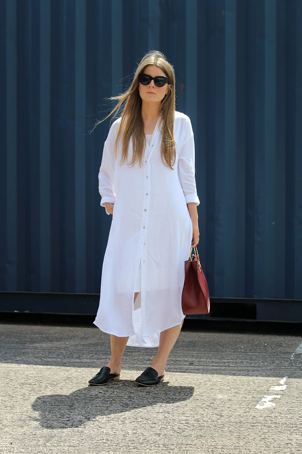 New Look Dress, New Look Flats, Zara Bag, Asos Sunglasses