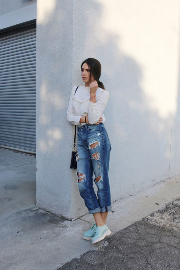 Rebecca Taylor Top, Diesel Jeans, Melissa Shoes Shoes