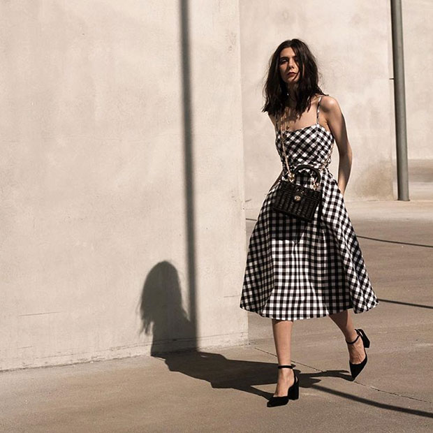 Chic Wish Gingham Dress