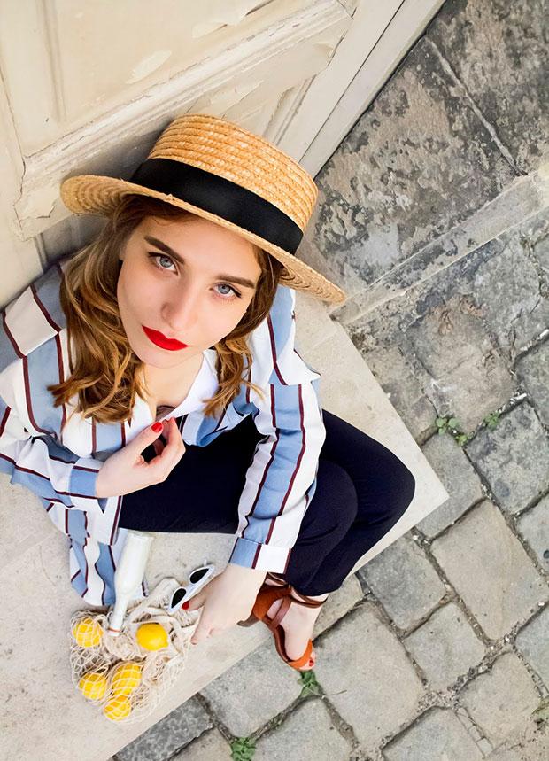 เสื้อคลุม Zaful, เสื้อ Zaful, กางเกง H&M, รองเท้า Zaful, หมวก Stradivarius