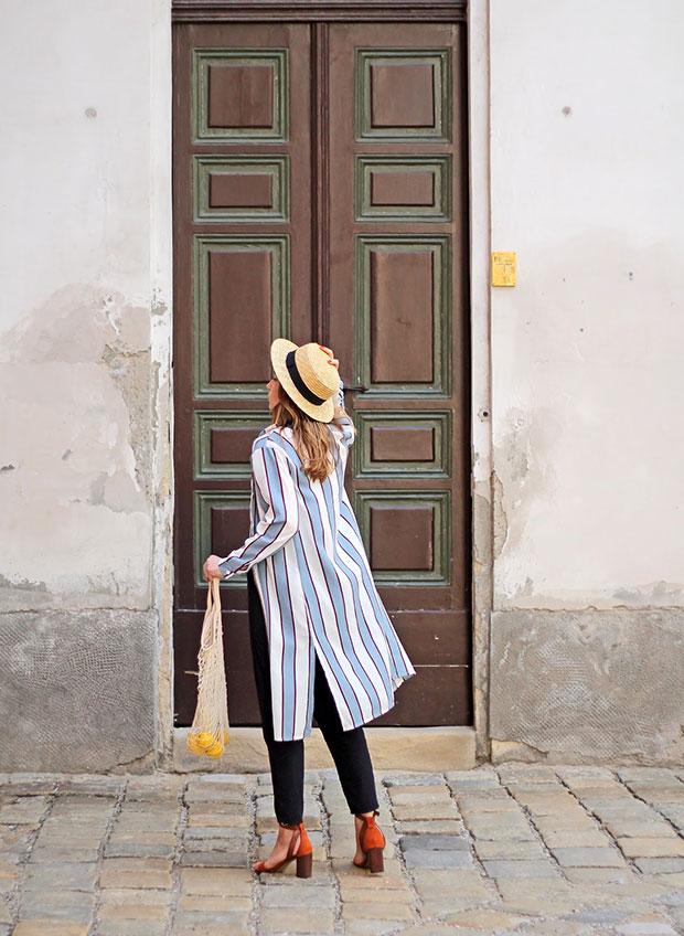 เสื้อคลุม Zaful, เสื้อ Zaful, กางเกง H&M, หมวก Stradivarius, รองเท้า Zaful
