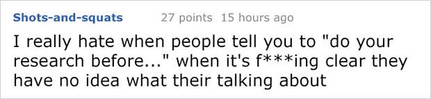 พวกเขาไม่รู้ว่าตัวเองกำลังพูดเรื่องอะไรอยู่