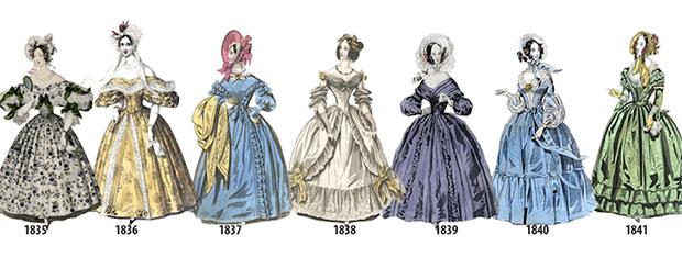 ลำดับเหตุการณ์แฟชั่นสตรีตั้งแต่ปี 1835 1841