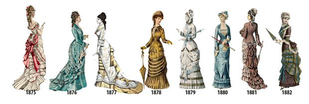 ลำดับเหตุการณ์แฟชั่นสตรีตั้งแต่ปี 1875 1882