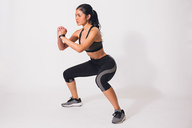 ท่า Wide stance jump squat