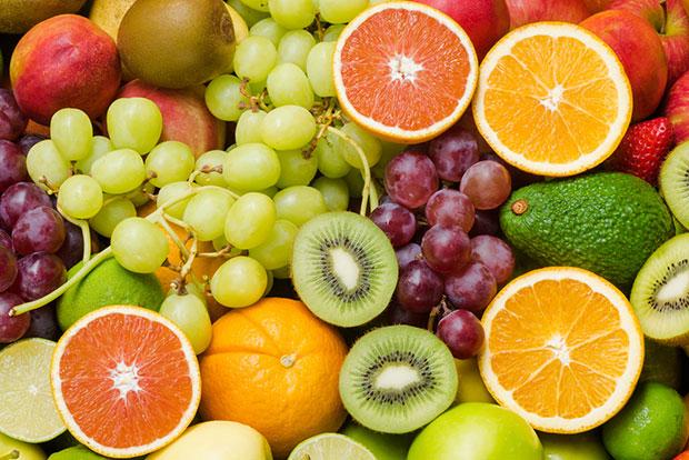 ผักและผลไม้สดบางชนิด