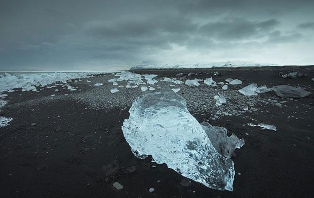 หาดทรายดำ หาดไดมอนด์ ไอซ์แลนด์